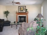 Family Room w/ staged furniture