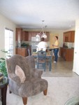 Viewing kitchen from the Family Room