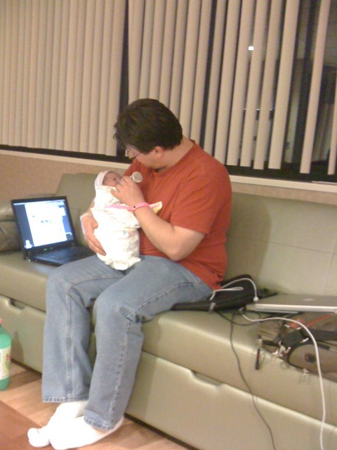 first feeding from Daddy