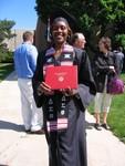 Lynda the proud graduate
