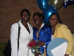 Me, my sister Rashida and Momma
