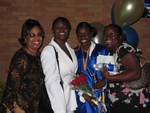 Auntie Jewel, me, Rashida and Erica