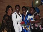 Auntie Jewel, me, Rashida and Erica
