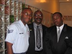 Jamaal, Daddy and Omar at Granddaddy's funeral