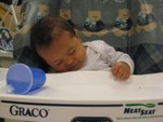Nicholas fell asleep while in high chair