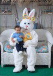 Nicholas with Easter bunny 13 months