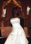 Rashida dancing to Cupid Shuffle
