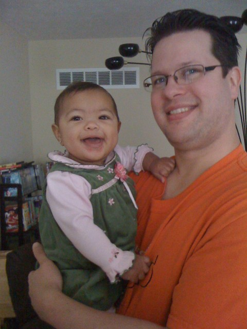 Daddy and Akilah (7 months)
