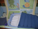 Closeup of the Secure Sleeper inside the crib