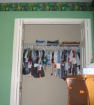 A closet full of clothes for Nicholas