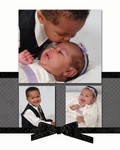 Nicholas 2 years & Akilah 3 months collage