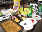 Some of the food at the poluck