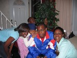 Rashida, Deprise, Jamaal, Lynda and Omar in the back  acting silly