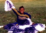 Rashida in Widget cheerleading
