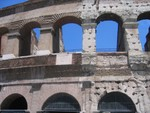 Roman Colosseum (you can really see the difference between original and some additions)