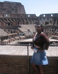 Candice posing in the Roman Colosseum