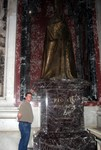 Jason near a Pope statue inside St. Peters Basilica
