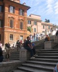 Jason sitting on the Spanish steps