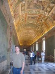 Jason in the tapestries hall before we enter the Sistine Chapel
