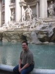 Jason at Trevi Fountain