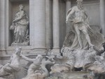 Trevi Fountain: Closer look at the missing trinton