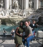 Both of us at Trevi Fountain