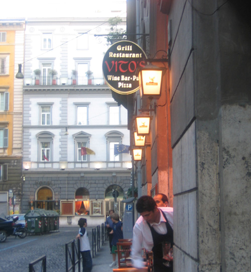 Vitos (first restuarant we ate at in Rome)