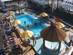 Another view of pool from upper deck