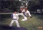Darin and Jim (flying side kick)