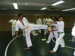 Durai breaks with side kick