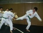 Nicholas breaks during the belt test
