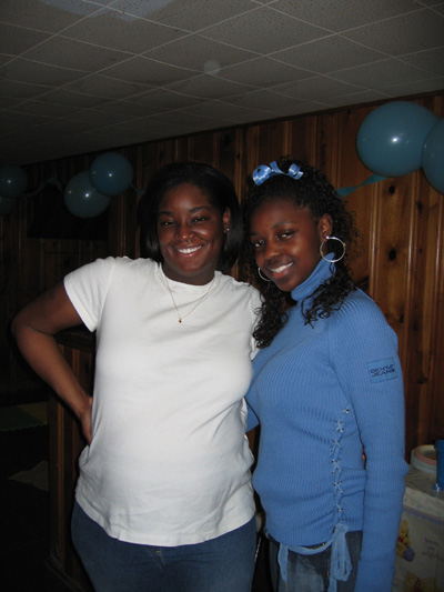 Vicki and Rashida at the Shower